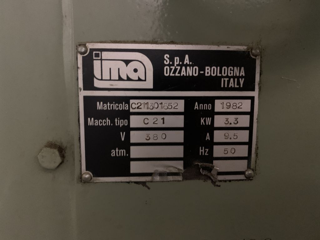 IMA C21 teabag machine