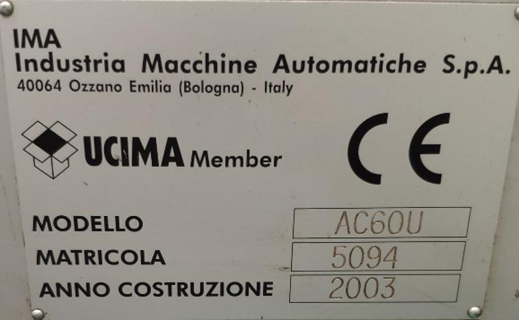 IMA AC60U overwrapper